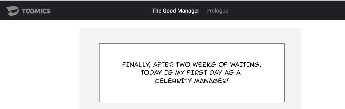 The good manager toomics